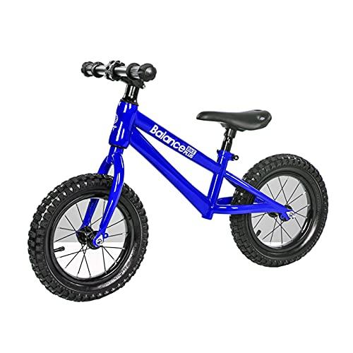HLEZ Bicicleta Sin Pedales para Niños De +2 Años con Sillín Ajustable En Altura Diseño Espacio Correpasillos para Equilibrio Regalos De Cumpleaños para Niños Y Niñas,Azul