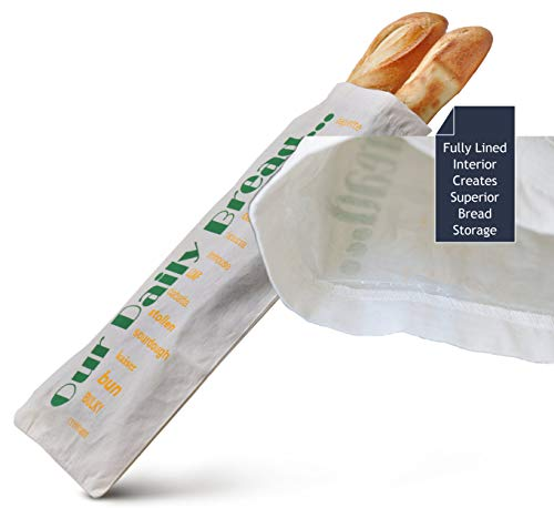 BREAD HERO Reusable Stores Better Than Breadbox, Bin, or Unlined Bread Bag and Bonus Cookbook