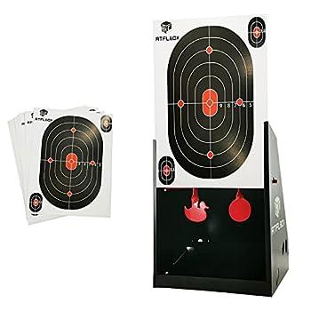 Atflbox 7 x 9 Inch bb Gun Target Trap with 10pcs Paper Target and Spinning Shooting Targets for Airsoft,BB Gun,Rifle