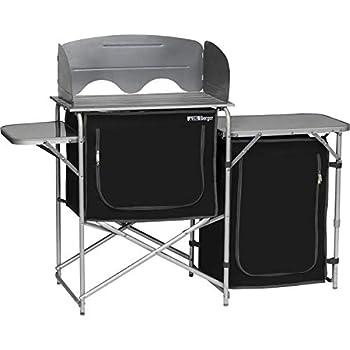 Berger Cuisine de Camping Pliante Aluminium Cuisine extérieure Meuble Rangement Mobilier Caravane