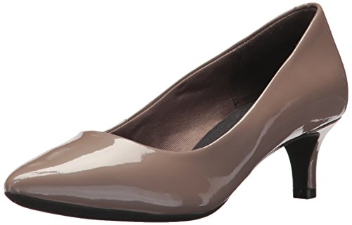 Rockport womens Total Motion Kalila Pump, Taupe Grey Pearl Patent, 10.5 US