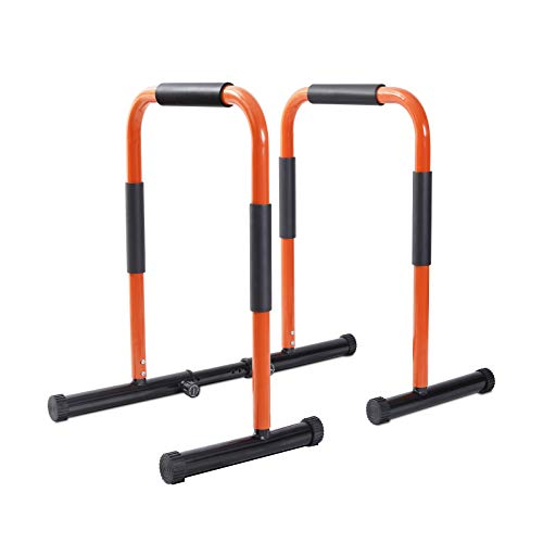 SYMTOL Dip Bars Portable Dip Station Fitness Bar, Workout Pull Up Dip Stand, Adjustable Body Press Bar Stabilizer Parallette Push Up for Home Gym Training Equipment