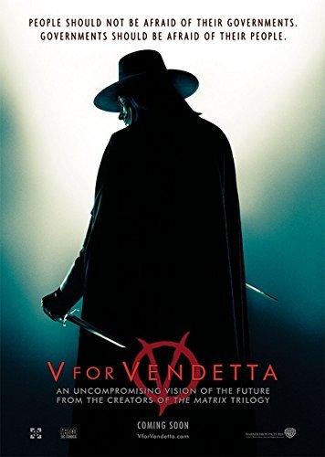 Da Bang V for Vendetta (2005) vintage movie poster 24x36inch 01