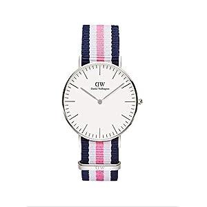 Daniel Wellington DW00100050, reloj blanco / gris para mujer, con correa