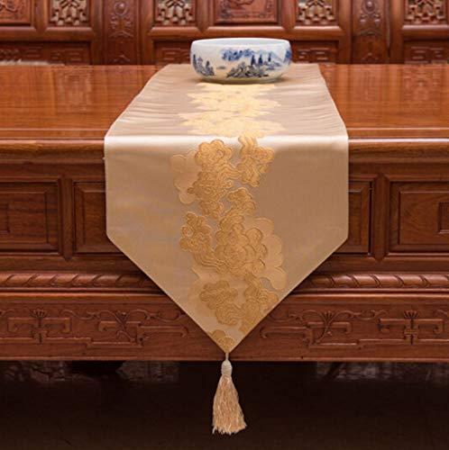 QQBYDT LYX® Tischfahne, Chinesischer Stil Tischfahne Rotholz Möbel Couchtisch Esstisch Schreibtisch Sideboard Tischdecke 33x210 cm (größe : 33x180cm)