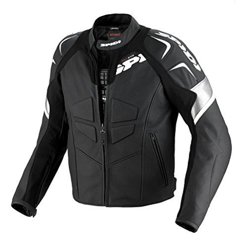 SPIDI - Giacca da Moto in Pelle Track, Nero/Bianco, 52