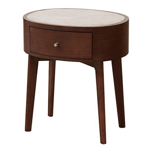 cozyhome AA Holz Nachttisch, Ecktisch und Schublade Kleiner Beistelltisch Seitenschrank Lampe Tisch Möbel 43 * 56 * 61cm Zuhause