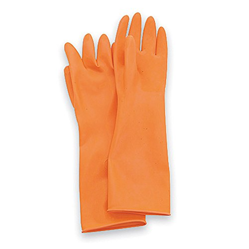 North by Honeywell AK1815/O/9 Ak Acid Cleanroom Gloves Latex, 9, Orange (0)