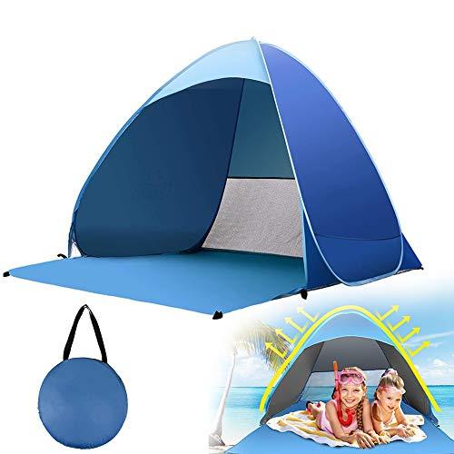 Tienda De Playa Plegables,Ligera Pop Up Beach Tent Sun Shelter Comodidad Protección Solar UV Playa/Parque/Acampar