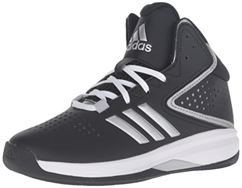 adidas Boys' Cross 'Em Up 2016 Basketball Shoe, Black/Metallic Silver/Light Onix, 5.5 Medium US...