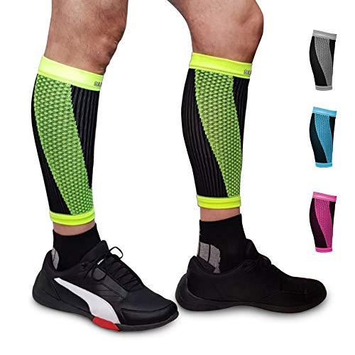 SULUMA® Abbligliamento Sportivo Fasce Compressione per Polpacci Sostegno Sollievo per i Muscoli (Giallo, L)