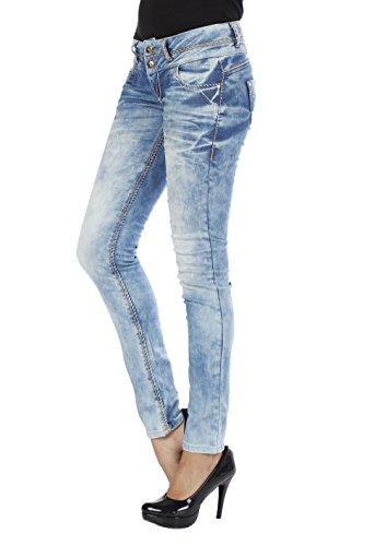 Cipo & Baxx Damen Jeans Hose slim fit, JEANS HELLBLAU, 27W / 32L