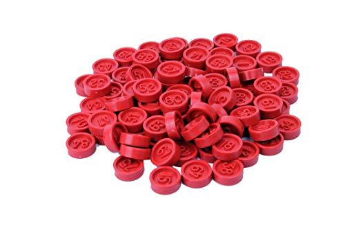 CARTALOTO-90 jetons en Plastique numérotés, JP902FR, Multicouleur