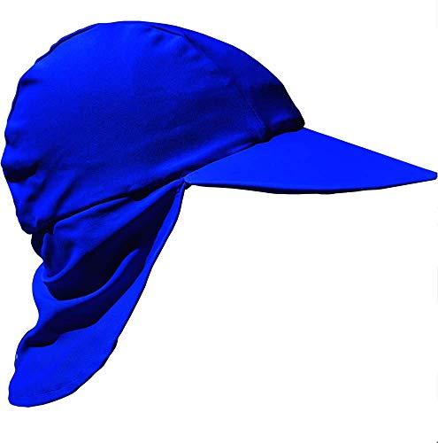 Zunblock Sonnenhut mit UV-Schutz UPF 50+ 0 bis 8 Jahre (Blau, M)