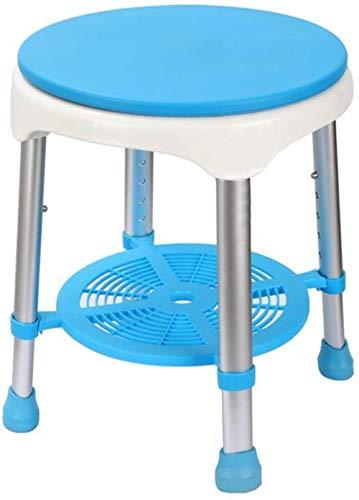 GCX- Silla de baño de 360 Grados giratoria Silla de baño for los Ancianos en el baño de Ancianos Antideslizante Embarazada Taburete de Ducha Antideslizante