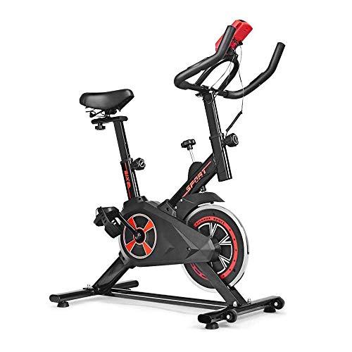 Cubierta plegable magnético Bicicleta estática, resistencia ajustable vertical estacionario bicicleta reclinada con medidor de frecuencia cardiaca y pantalla LCD for el hogar / Gimnasio Cardio Fitness