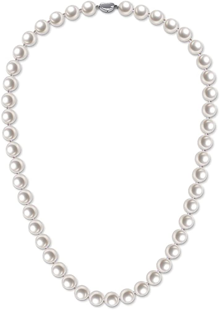 Freshwater Cultured Pearl Necklace Sales for sale C Round Silver Sterling Jacksonville Mall