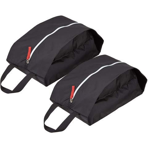 TRAVELTO Set van 2 schoenentassen/organizertassen van licht en duurzaam nylon - met ritssluiting - ideaal voor op reis - Shoe Bag/Boot Bag