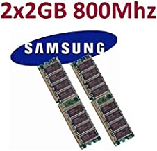 Samsung - Módulo de memoria DDR2-800 DIMM (2 x 2 GB: 4 GB, 240 pines, 800Mhz, PC2-6400, M378T5663QZ3-CF7, doble canal, para ordenadores DDR2)