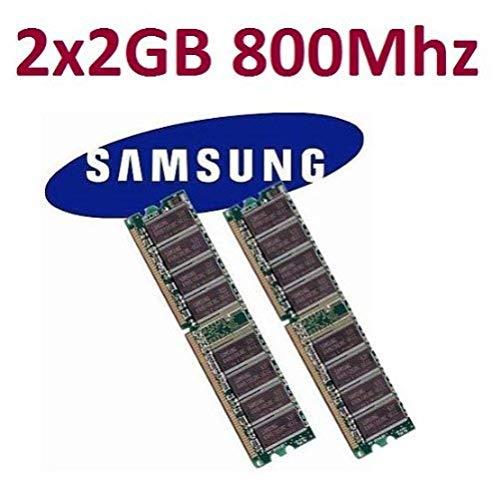 Dual Channel Kit SAMSUNG 2 x 2 GB = 4GB 240 pin DDR2-800 DIMM (800Mhz, PC2-6400) M378T5663QZ3-CF7 double side für DDR2 Computersysteme