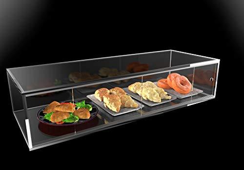Vetrina espositore in plexiglass trasparente porta brioche, pane, cornetti e alimenti (Larghezza 90 cm)