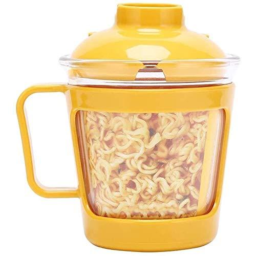CHENCfanh Bento Box Vetro Lunch Box;Tagliatella istante Lunch Box;Frutta e Verdura;Vetro Lunch Box;con Coperchio, può Essere riscaldato nel Forno a microonde;Zuppiera;Cereal Bowl, Bento-Styled Pranzo