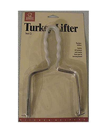 Rowoco Set of Two Turkey Lifters, White Handle