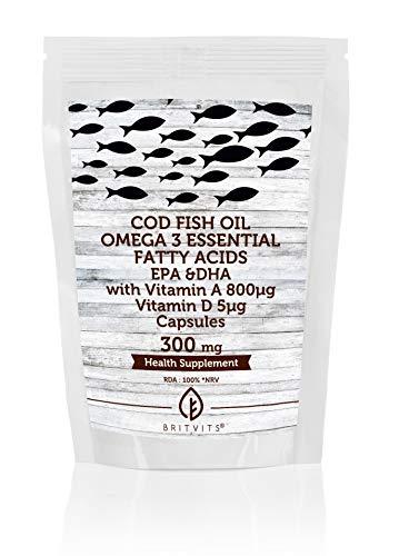 Torsk fiskleverolja 300 mg x 120 kapslar