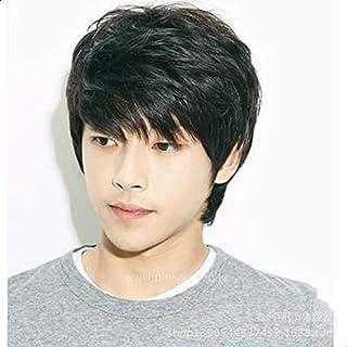 رجل وسيم قصير اسود ذكر كوريا الشعر المستعار تأثيري شعر مستعار