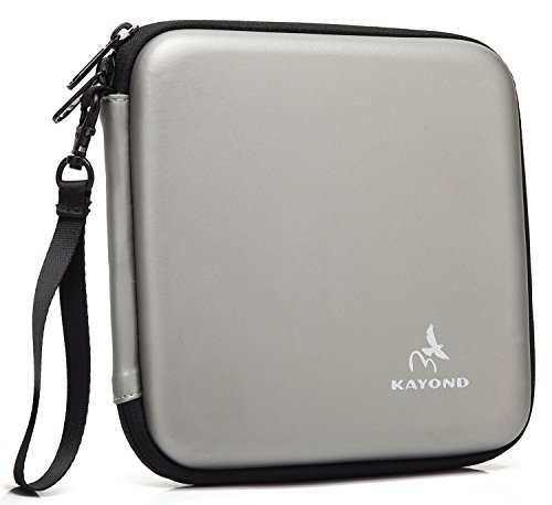KAYOND Portable Hard Carrying Travel Storage Case for External USB, DVD, CD, Blu-ray Rewriter/Writer and Optical Drives (Gray)