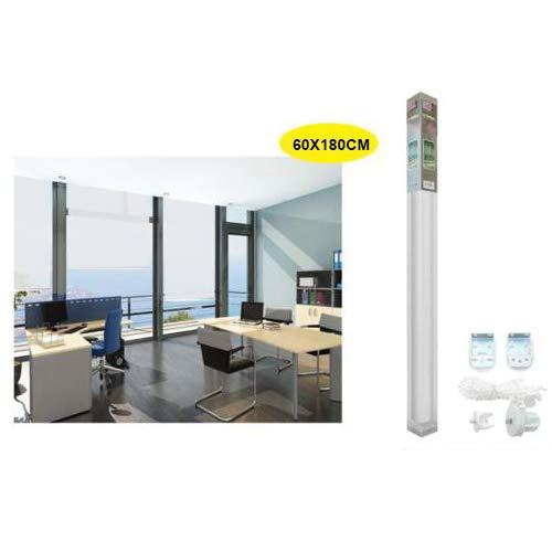 REAL STAR Estor Enrollable translúcido Liso (Blanco, 60x180cm)