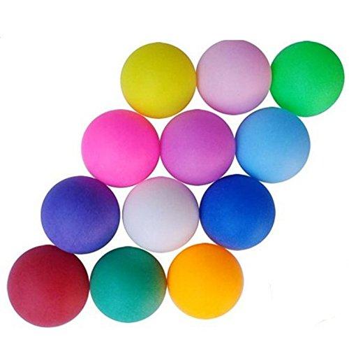 Pack de 25 pelotas de tenis de mesa de mezcla de colores sin marca.