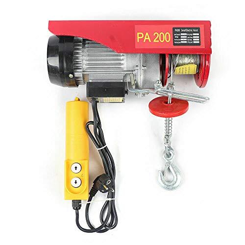Futchoy Palan Electrique 220V Treuil Electrique à Câble 100 / 200kg Treuil-Palan Electrique avec Contrôle pour Maison, Atelier, Garage