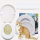 BONDAGE Gato doméstico del Animal de Aseo Orinal Gato WC Trainer, Resolver Problemas Gato Fisiológica