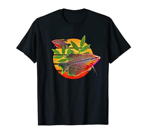 Fadenfisch Sonnenuntergang Perle Fadenfische Aquarium T-Shirt
