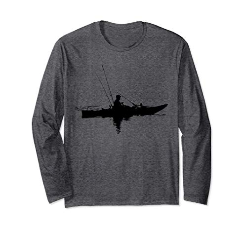 Kajakfischen | Kajak fahren | Geschenk zum Angeln Langarmshirt