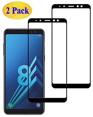 Eachy Samsung Galaxy A8 2018 Panzerglas Schutzfolie,[2 Stück] Vollständige Abdeckung Ultra-klar Bildschirmschutzfolie für Samsung Galaxy A8 2018 (SM-A530) Panzerglasfolie 5,6 Zoll-Schwarz(0,33 mm)