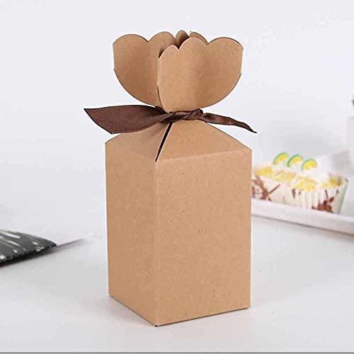 BAWAQAF Cajas de Regalo, Caja de cartón del Paquete de Papel 50pcs, Caja del Caramelo del florero, Cajas de Regalo de la Fiesta de San Valentín de la Navidad del cumpleaños para los Regalos