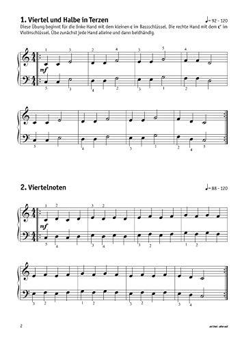 Meine ersten Fingerübungen! 46 Übungen für Klavier, Keyboard & Orgel – für Kinder ab 8 Jahren & Erwachsene. Fingertraining. Lehrbuch für Piano. Musiknoten. - 3