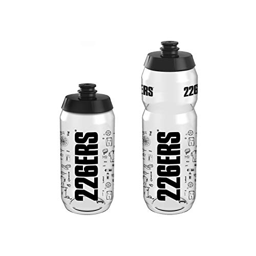 226ERS Bidón de Ciclismo Superligero Knolling Negro para Hidratación, BPA Free - 550 ml