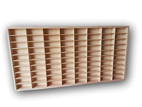 DECOCRAFT For Hot Wheels 1/64 Scale Diecast Display Case Matchbox Storage Cabinet Shelf Rack for 56 Hot Wheels