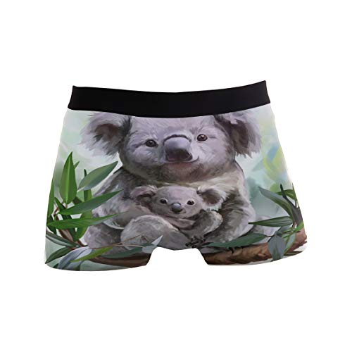 ZZKKO Koala Tree Herren-Boxershorts, atmungsaktiv, Stretch, mit Tasche, S-XL Gr. L, weiß