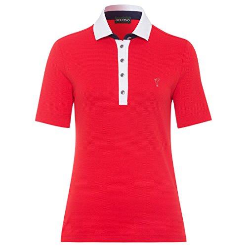 GOLFINO Damen Kurzarm Poloshirt Größe 38 (M) Rot