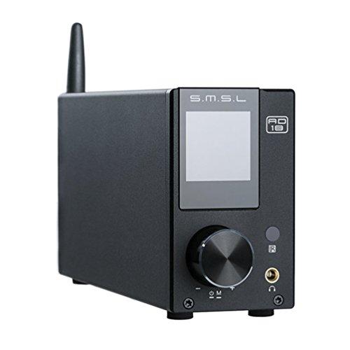 SMSL AD18 HIFI Audio Stereo Verstärker mit Bluetooth 4.2 Unterstützt Apt-X, USB DSP Full Digital Verstärker 2.1 für Lautsprecher,Small 80Wx2 Class D Verstärker mit Subwoofer Ausgang