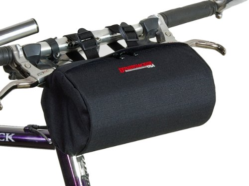 Bushwhacker Cody Black - Bicycle Handlebar & Seat Bag Cycling Pack Bike Cylinder Saddle Bag Rear Front Accessories Frame Snowmobile UTV Scooter Dirt Motorcycle