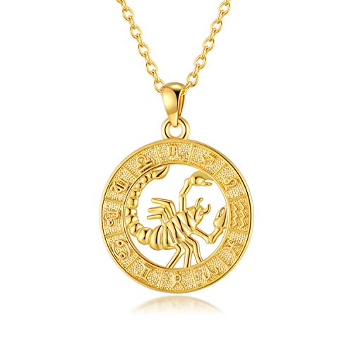 VLINRAS Scorpio Necklace for Women Zodiac Sign Necklace Gold Scorpio Gift...