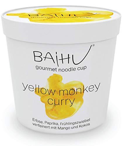BAIHU Instant Nudeln | vegetarisch | vegan | schnelle Zubereitung (Curry Nudelsuppe, 6 Cups)