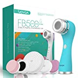VOYOR 5 En 1 Recargable Cepillo Limpiador Facial Electrico Limpieza Facial Minimizador de Poros Removedor de Piel Muerta Cepillo Removedor de Maquillaje Cepillo Limpiador Corporal FB500 (Azul)