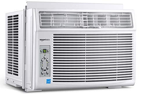 Amazon Basics Window-Mounted Air Conditioner with Remote - Cools 450 Square Feet, 10000 BTU, Energy Star