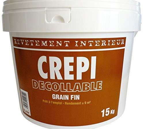 CREPI ACRYLIQUE BLANC MURAL INTERIEUR GRAIN FIN DECOLLABLE BLANC